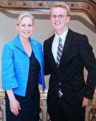 Remco Zwetsloot with Senator Gillibrand in Washington, DC.
