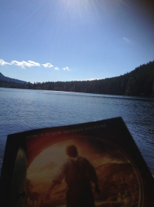 Reading at the lake
