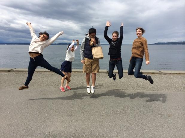 alki beach jumping