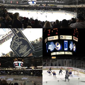 Collage 16 ice hockey game