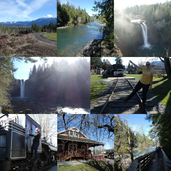 Collage 30 Snoqualmie falls